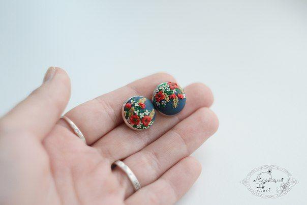 ukrainian style, Ukraine, puppy earrings, filigree earrings, filigree pattern, tenderness, beautiful earring, handmade earrings, flowers earrings, flower, polymer clay, flower inspiration