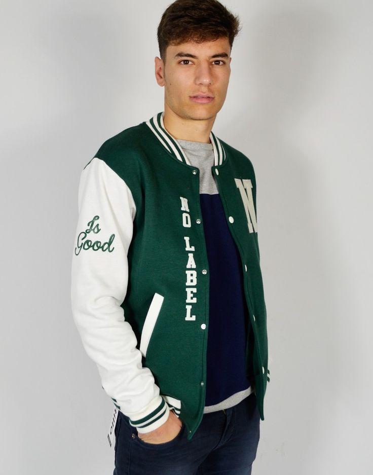 chaqueta beisbolera verde d6bf71c1773