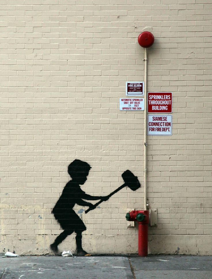 Banksy graffiti/street art - Better Out Than In: An artists residency on the streets of New York. Upper West Side, October 2013.