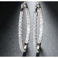 Ziphlets Pave Cubic  Zirconia Hoop Earrings. Use the code ZIPHLETS10 for 10% off.