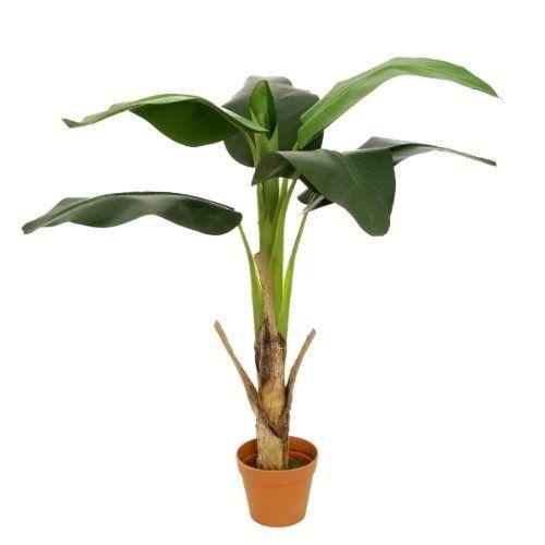 Bananenpalme 100 cm Bananenpflanze künstlich Kunstbaum Kuns - Dekoration   Leihdirwas.de