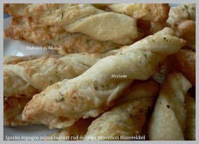 Habverő és fakanál: Igazán ropogós sajtos csavart rúd és csiga provanc...