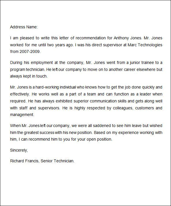 The 25+ best Employee recommendation letter ideas on Pinterest - job termination letter