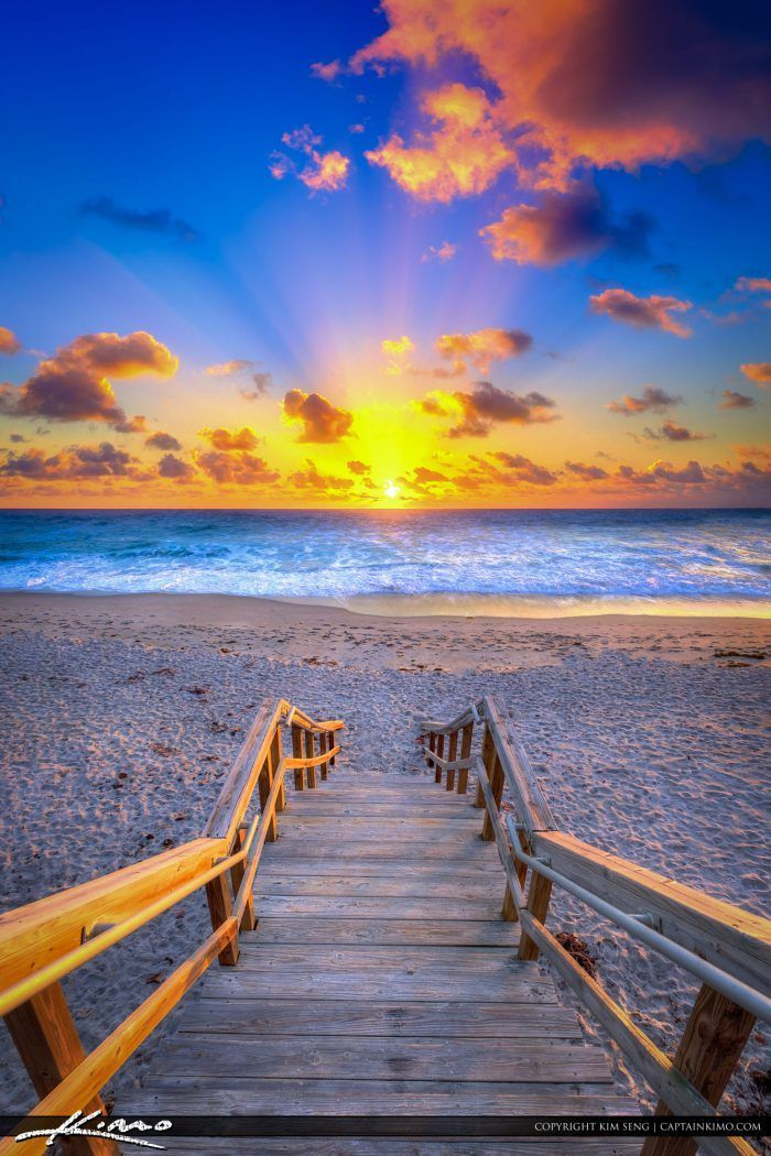 Christmas Eve Beach Sunrise From Jupiter Florida
