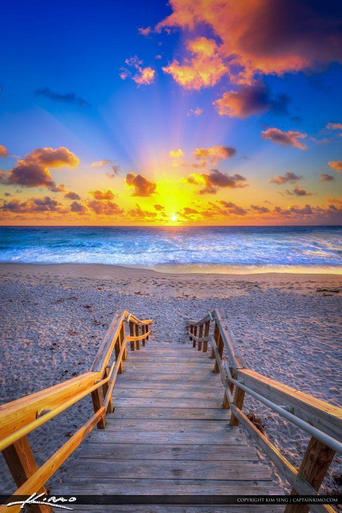 Christmas Eve Beach Sunrise from Jupiter Florida  beach