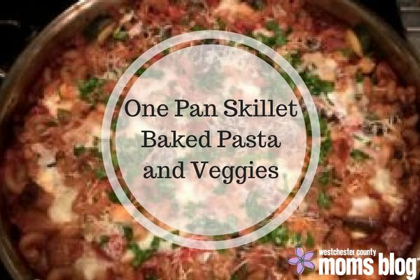 One Pan Skillet Baked Pasta and Veggies