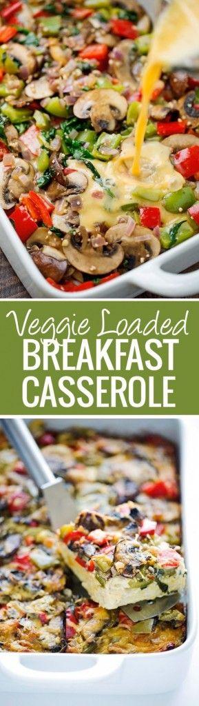 Get the recipe ♥ Veggie Loaded Breakfast Casserole @recipes_to_go