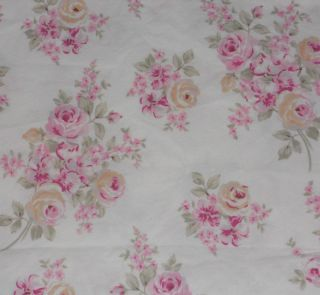 Simply Shabby Chic Pink Roses Blush Beauty Cotton Cottage style Shower