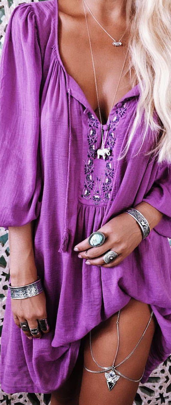 cool Bohemian jewelry style...