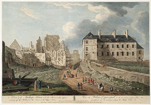 A View the ruins of Quebec City (September 1, 1761)