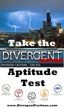 Divergent faction quiz and aptitude test - fun activity to do while teaching Divergent.