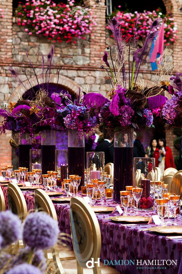 37 best wedding pink purple images on pinterest flower beautiful purple gold wine centric event designed by sasha souza at castillo di amorosa decor and detail photos by damion hamilton junglespirit Gallery