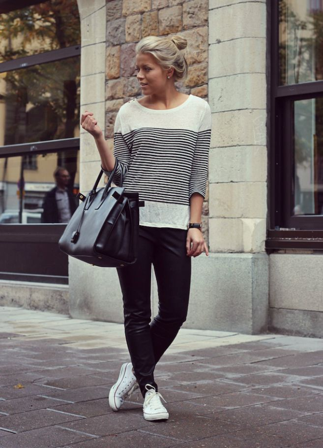Stripes, leather, cons and YSL | Linda Juhola