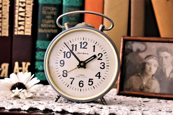 Vintage Alarm Clock  Alarm Clock Jantar  Retro Alarm Clock