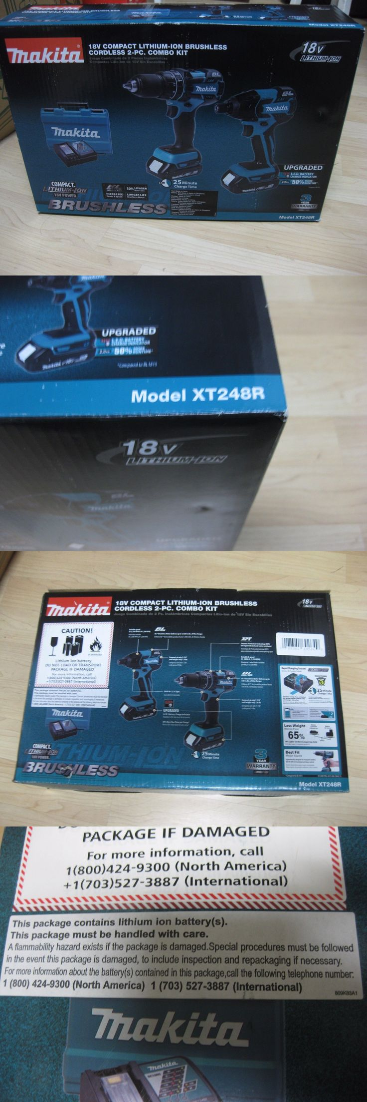 Combination Sets 177000: Makita Xt248r 18V Compact Lithium-Ion Brushless Cordless Combo Kit (2-Piece) -> BUY IT NOW ONLY: $219.95 on eBay!
