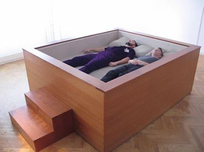 Sonic Bed - allows you to sink into your bed and fall into a trance like state listening to music or low base frequencies that flow trough your body.