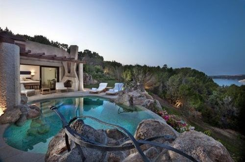 Suite with Private pool Porto Cervo Italy Hotel Pitrizza Suite und Pool