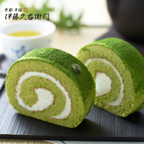 宇治抹茶ロールケーキ http://www.itohkyuemon.co.jp/item/53.html