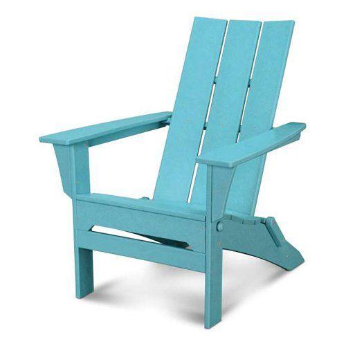 Exclusive! POLYWOOD® Modern Folding Adirondack Chair
