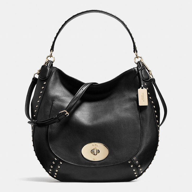 Circle Hobo in Studded Calf Leather