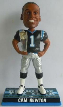 Cam Newton Nfl Rookie of the Year Carolina Panthers Bobblehead