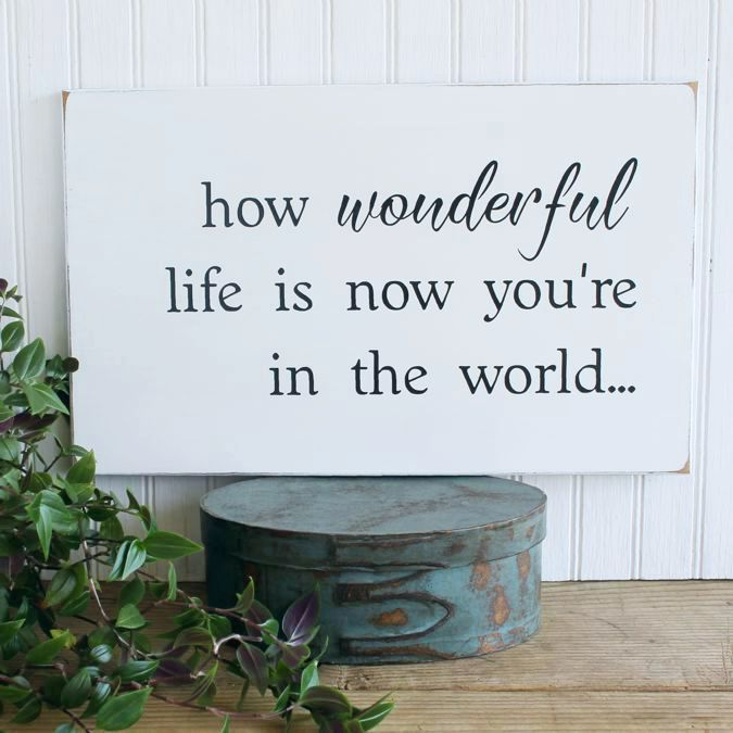 How Wonderful Life Is Now You Re In The Worldsweet Wonderful