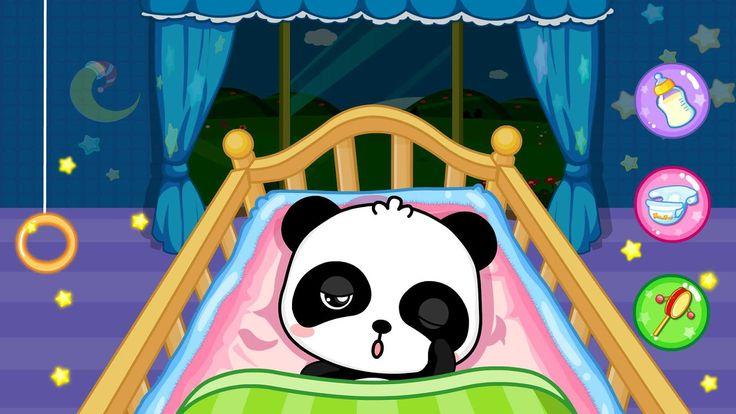 c 39 est l 39 heure de dormir bonne nuit b b dans babysitter panda babybus. Black Bedroom Furniture Sets. Home Design Ideas