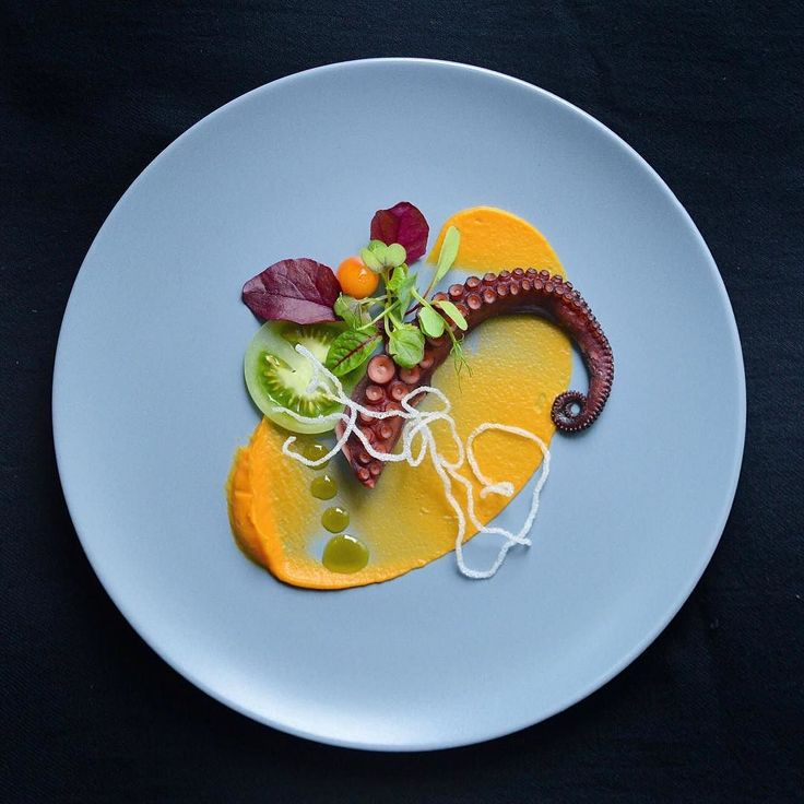 Foodstar Pawel Mróz (@pmroz74) shared a new image via Foodstarz PLUS /// Octopus Carrot Puree and Ginger Tomato Herbs Sesame Oil  #octopus #carrot #ginger #tomatoes #sesame #foodstarz  If you also want to get featured on Foodstarz just join us create your own chef profile for free and start sharing recipes images and videos.  Foodstarz - Your International Premium Chef Network by foodstarz_official