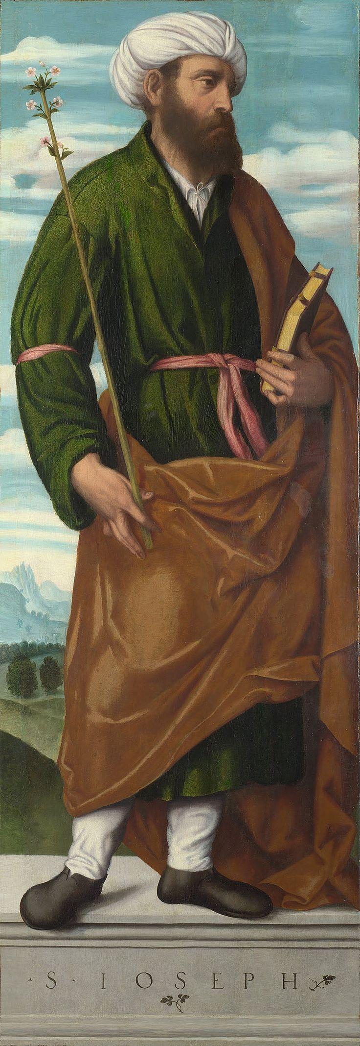 Moretto da Brescia - Saint Joseph - Google Art Project - Category:Google Art Project works by Moretto da Brescia - Wikimedia Commons