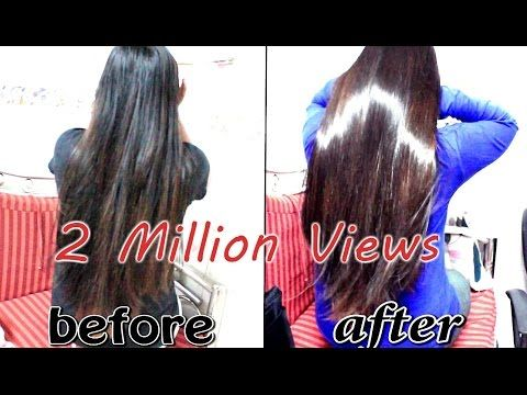 Get silky hair, shiny hair, soft smooth hair, glossy hair easily/INDIANGIRLCHANNEL TRISHA - YouTube