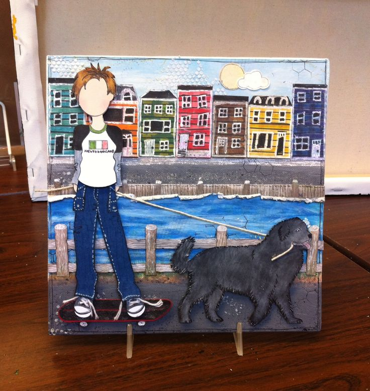 Lori's Beautiful Newfoundland Canvas - class scheduled for Wednesday, Oct. 8th, 2014 at The Paperie.