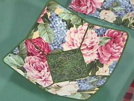 Fabulous Fabric Bowls - use to protect your hands from hot, microwaved bowls or a decorative catch-all around the house.