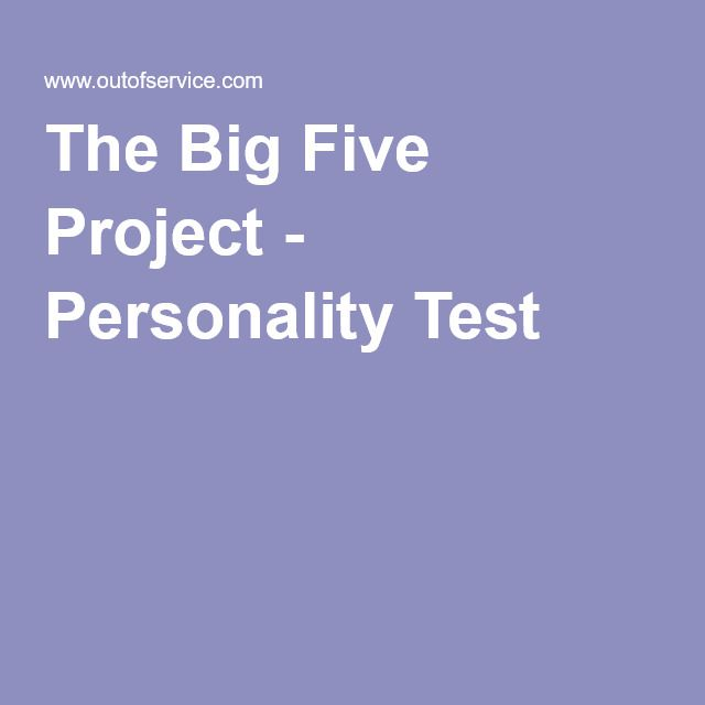 big five personality clusters Vestigated relationships between features of cluster b personality pathology   an = 41 on personality disorders, n = 43 on big five dimensions, n = 53 on sip.