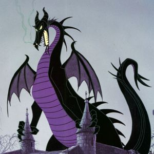 Maleficent as a Dragon—Sleeping Beauty (1959)  This black-and-purple dragon is about as mean and vicious as Disney dragons come.