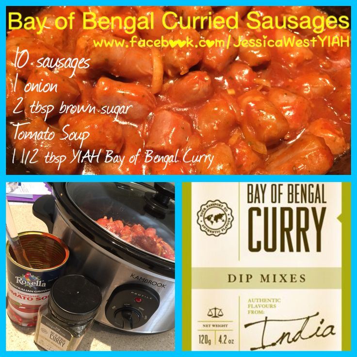 Curried sausages using YIAH Bay of Bengal curry dip mix Http://jessicawest.yourinspirationathome.com.au www.facebook.com/JessicaWestYIAH