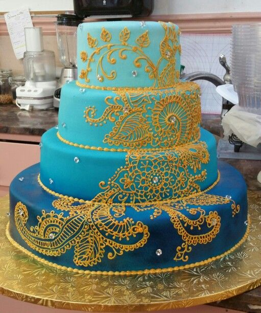 Mehndi Patterns For Cakes : Best images about mehndi cakes on pinterest henna