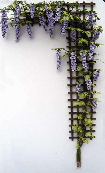 wisteria trellis  I love the detail need to make several of these for a project