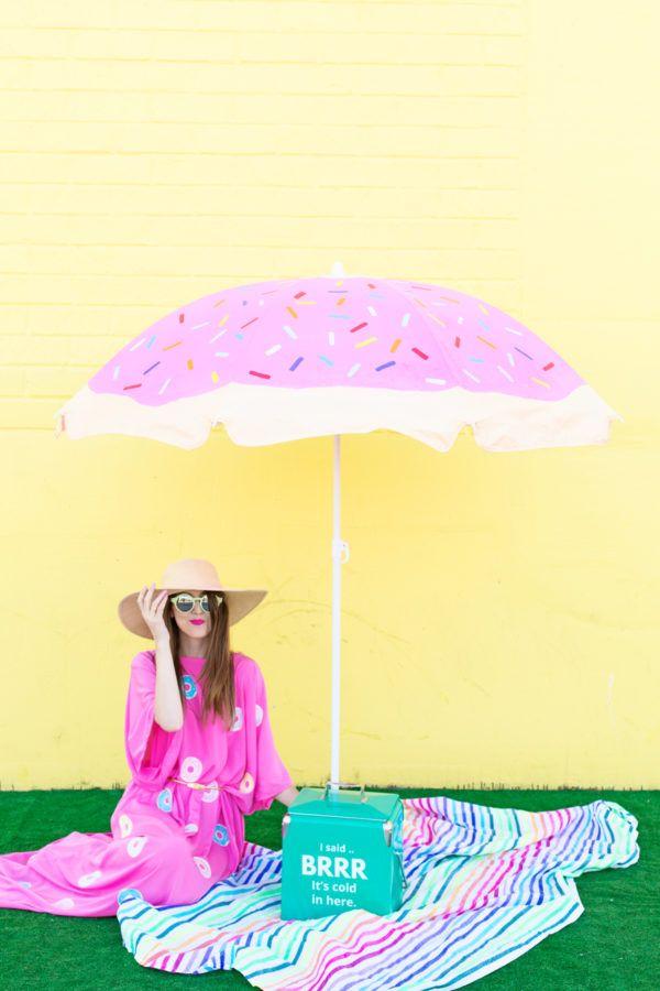 DIY Donut Beach Umbrella - Studio DIY