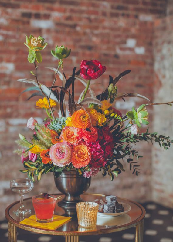 Bright and colorful florals   photo by Amber Gress   100 Layer Cake