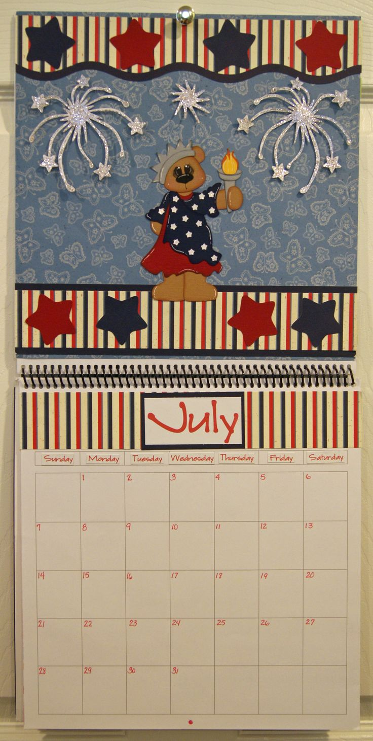 Scrapbook ideas calendar pages - July Calendar Created By Dt Nancie July Calendarscrapbook Albumsscrapbook Layoutsbox
