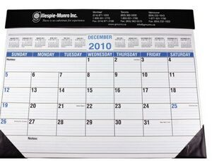 Full Size Desk Planner w/ Black Vinyl Trim | Minimum order 100, $3.99 - $3.89 ea.