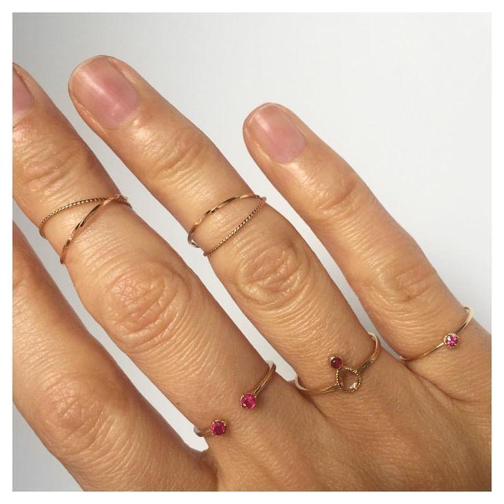 Золотые кольца с рубинами и бриллиантами. Двойные золота кольца. WhatsApp +79096251111 #blueboxmoscow #bluebox #valentine #valentinesday #valentinesdaysoon