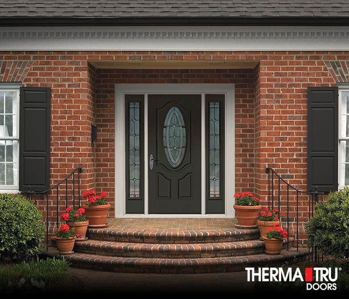 Therma Tru Smooth Star Fiberglass Door Painted Laurel