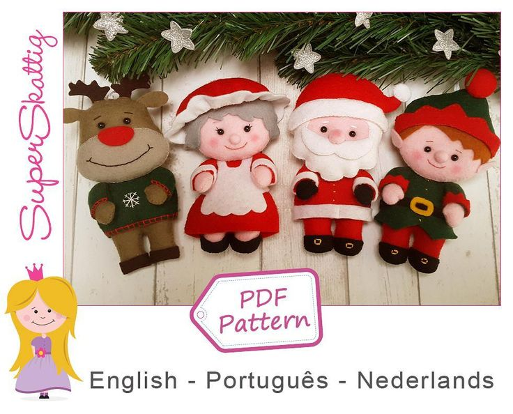 Pattern Santa & Family is available for you at: www.etsy.com/shop/superskattig   #vilt #felt #feltro #fieltro #superskattig #handmade #etsy #pdfpattern #feltpattern #viltpatroon #apostila #etsyshop #etsyseller #etsysellers #diy #christmas #natal #kerst #santaclaus #santa #rudolphtherednosedreindeer