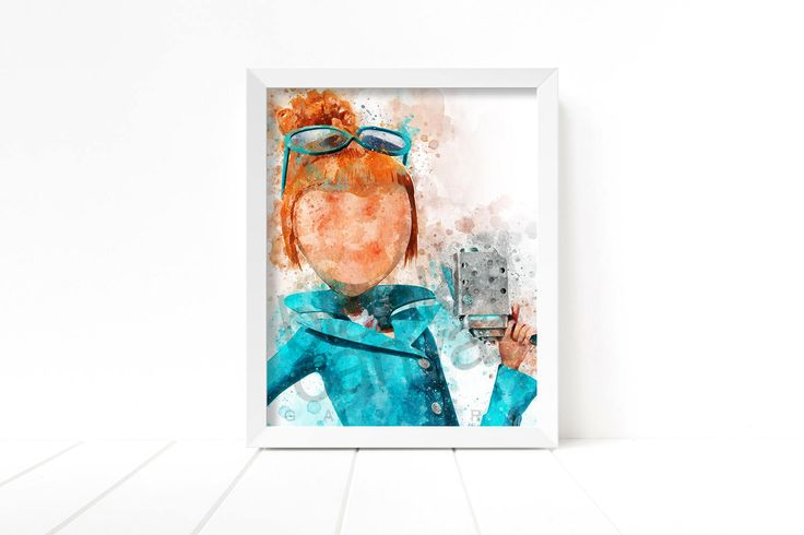 Despicable Me - Lucy Wilde Portrait - Wall Art, Printable Poster - 8 x 10 - DIGITAL DOWNLOAD - #BCG-1553 by BlankCanvasGallery on Etsy