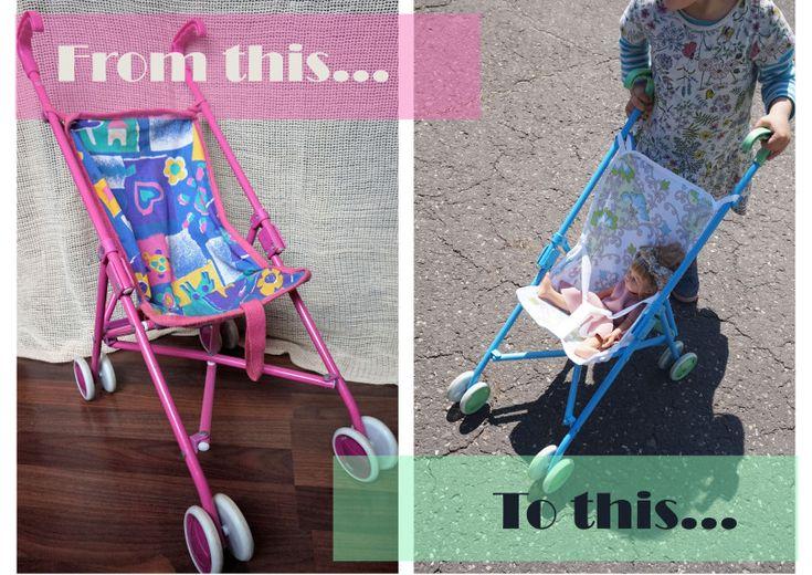 DIY Baby doll Stroller Make Over