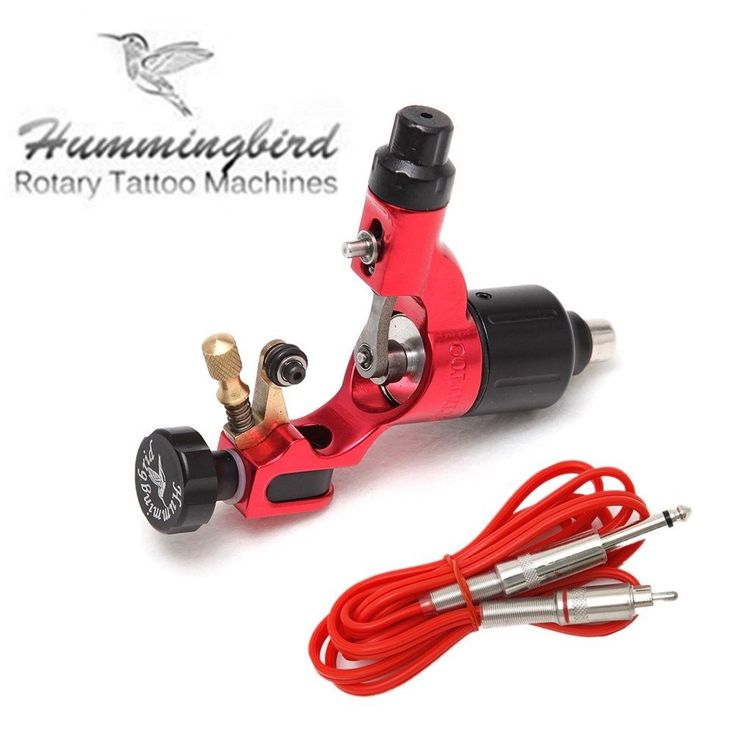 Original hummingbird rotary tattoo machine gun gen 2 + silicon 1.8m RCA cord