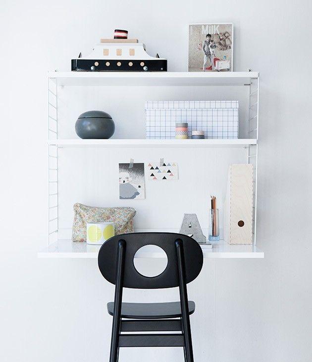 Wall Mounted Desk Leika Hukit Chair/Remodelista