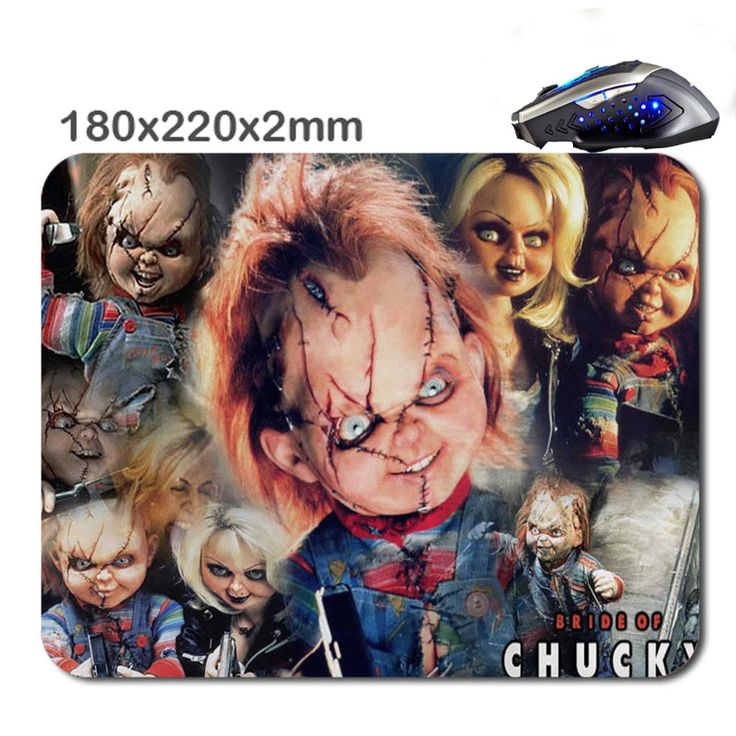 220X180X2mm  chucky the killer doll Customized Rectangle Non-Slip Rubber 3D HD printing gaming rubber durable notebook mouse pad #Affiliate
