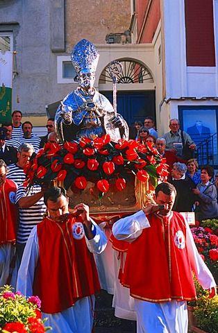 Procession Festa di San Constanzo, Piazetta di Capri, Capri Island, Campania, Italy IProzession Festa di San Constanzo, Piazetta di Capri, Insel Capri, Kampanien, Italien